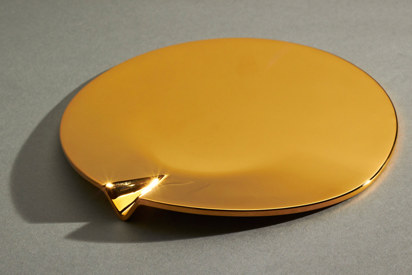 24 Carat Gold-Plated Fetish Ashtray by Joe Doucet