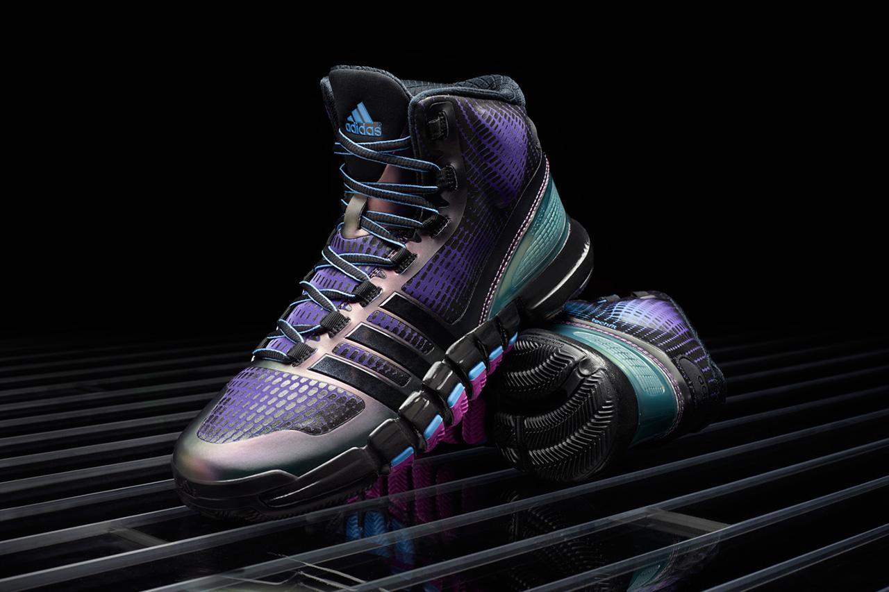 adidas crazyquick black purple teal