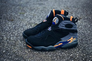 Air Jordan 8 Retro Black/Bright Citrus-Cool Grey-Deep Royal