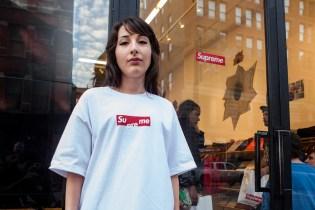 "Supreme's Box Logo Gets Flipped for Free ""Su me"" T-Shirt"