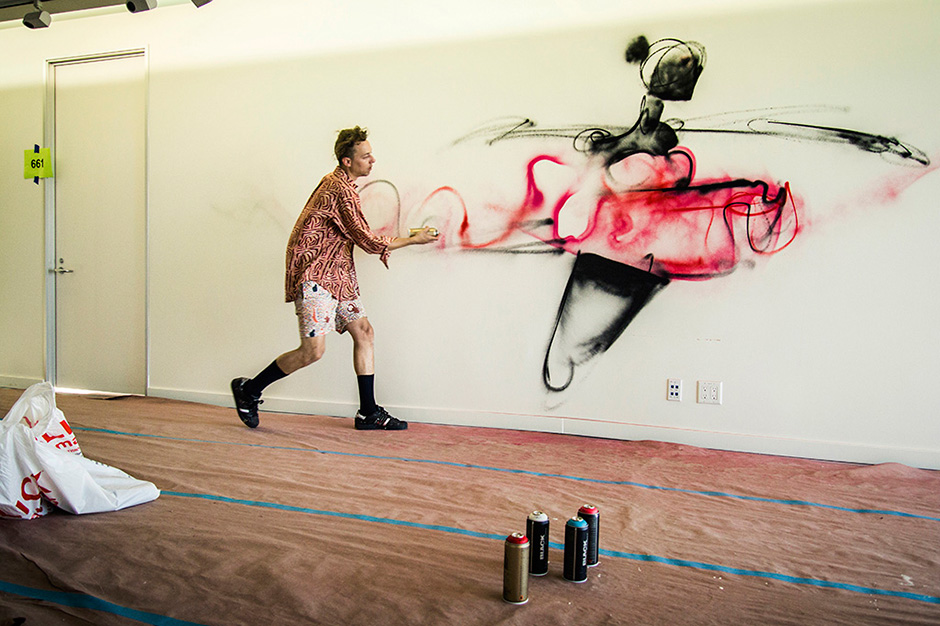Anthony Lister's Los Angeles Mural at theAudience Part II