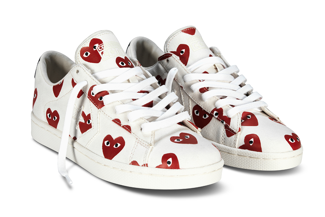 comme des garcons play for converse pro leather 2013 collection
