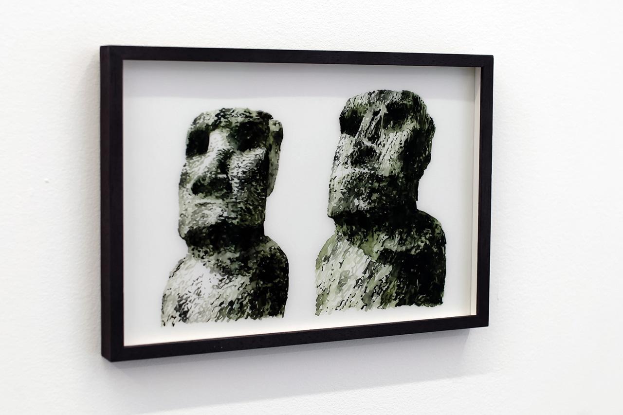 """Daniel Arsham """"Easter Island"""" Exhibition Recap at Galerie Perrotin"""
