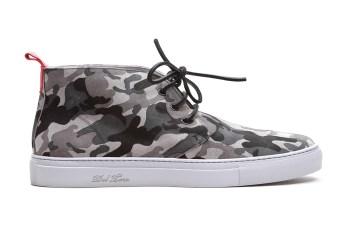 Del Toro Grey Camo Suede Alto Chukka Sneaker