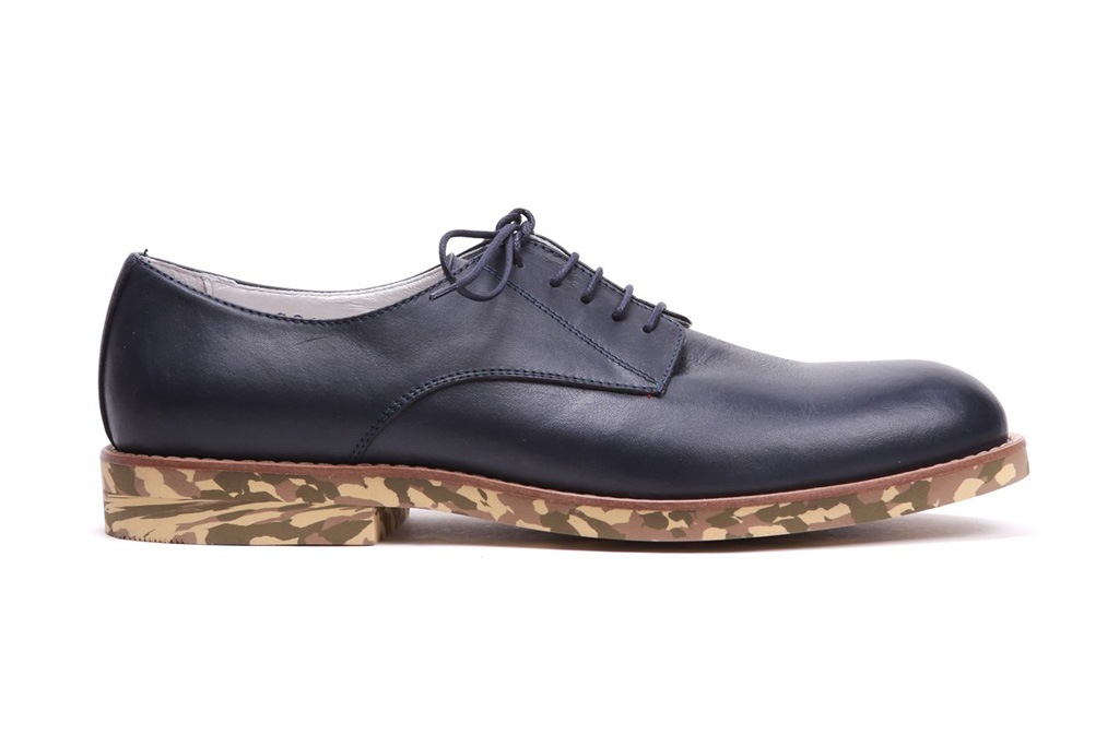 Del Toro Navy Nappa Oxford with Camo Sole