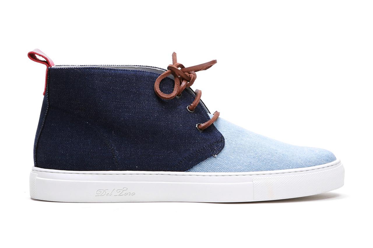 Del Toro Selvage Denim Alto Chukka Sneaker