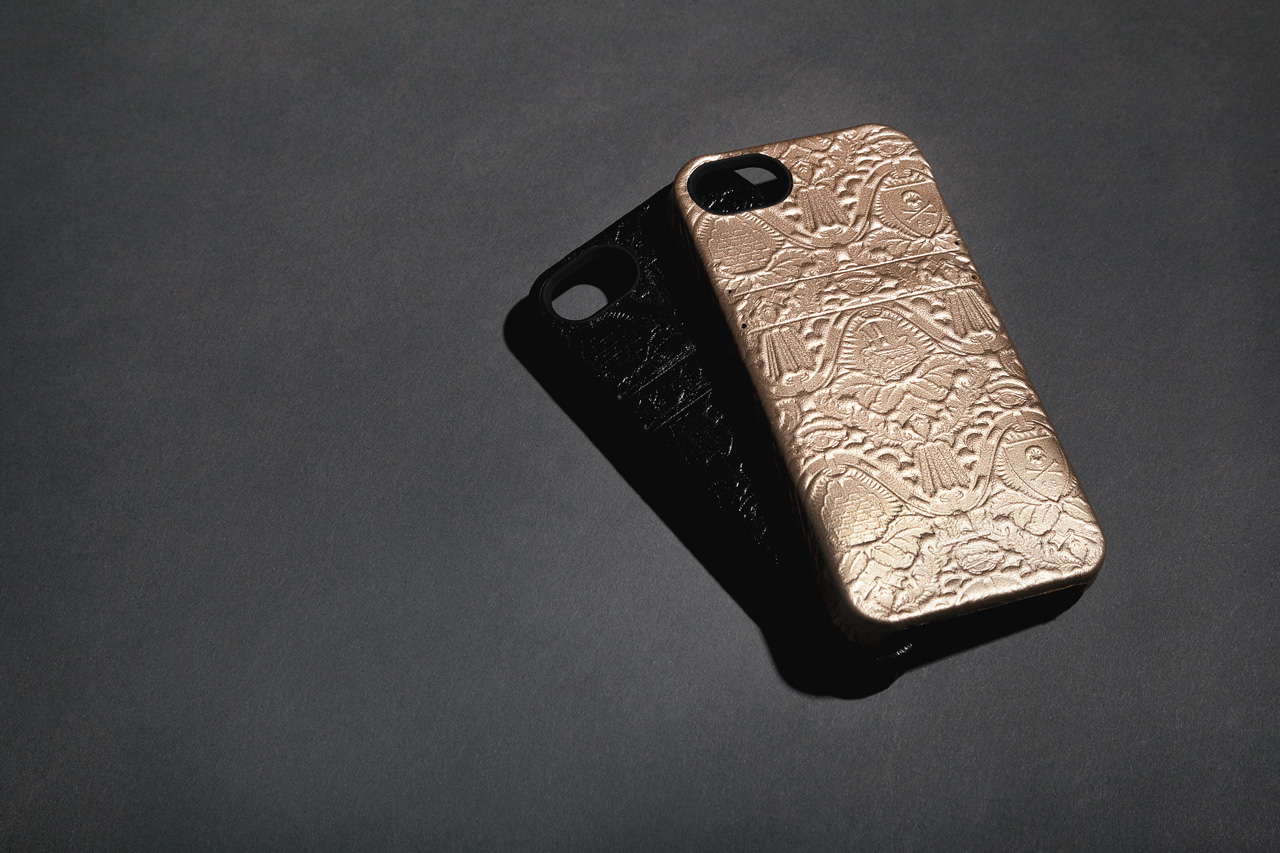 fools gold x hex leather solo wallet iphone case