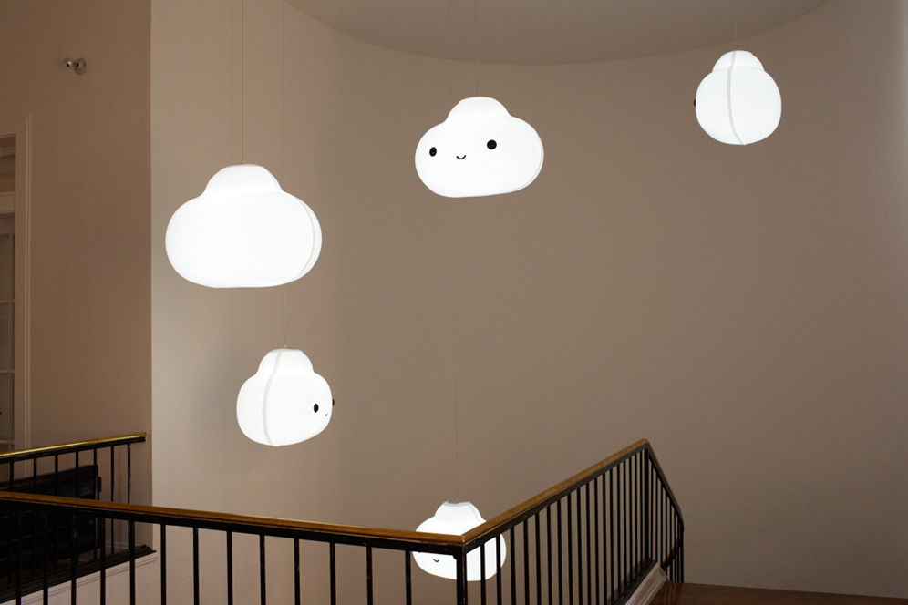 into the clouds light installation