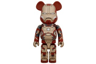 "Iron Man 3 x Medicom Toy ""Mark XLII"" 400% & 1000% Bearbricks"