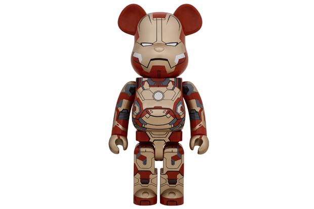 """Iron Man 3 x Medicom Toy """"Mark XLII"""" 400% & 1000% Bearbricks"""