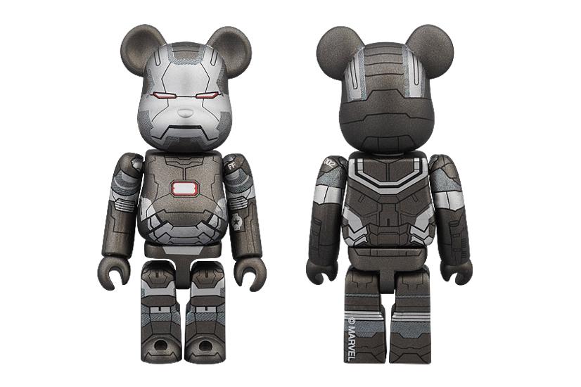 "Iron Man 3 x Medicom Toy ""War Machine"" 100% & 400% Bearbricks"