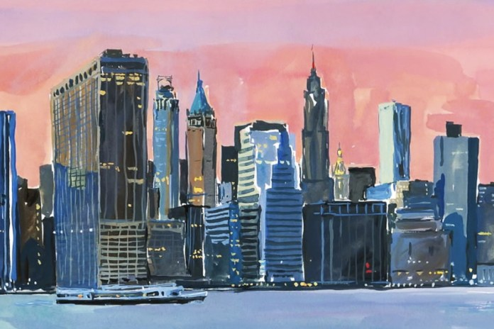 Jean-Philippe Delhomme Illustrates New York City for Louis Vuitton