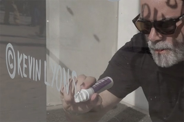 Kevin Lyons Paints New Museum's Window for Ideas City