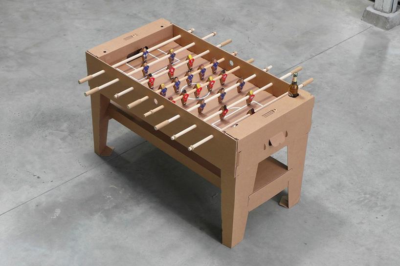 Kickpack Cardboard Foosball Table