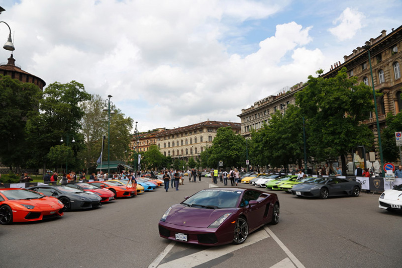 lamborghini celebrates its 50th anniversary with the grande girdo ditalia