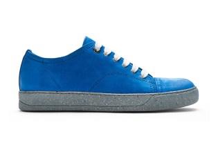 Lanvin Blue Suede Deconstructed Sneaker