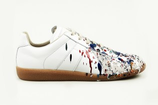 Maison Martin Margiela 2013 Pre-Fall Hand Painted Colour Drop Replica Sneaker
