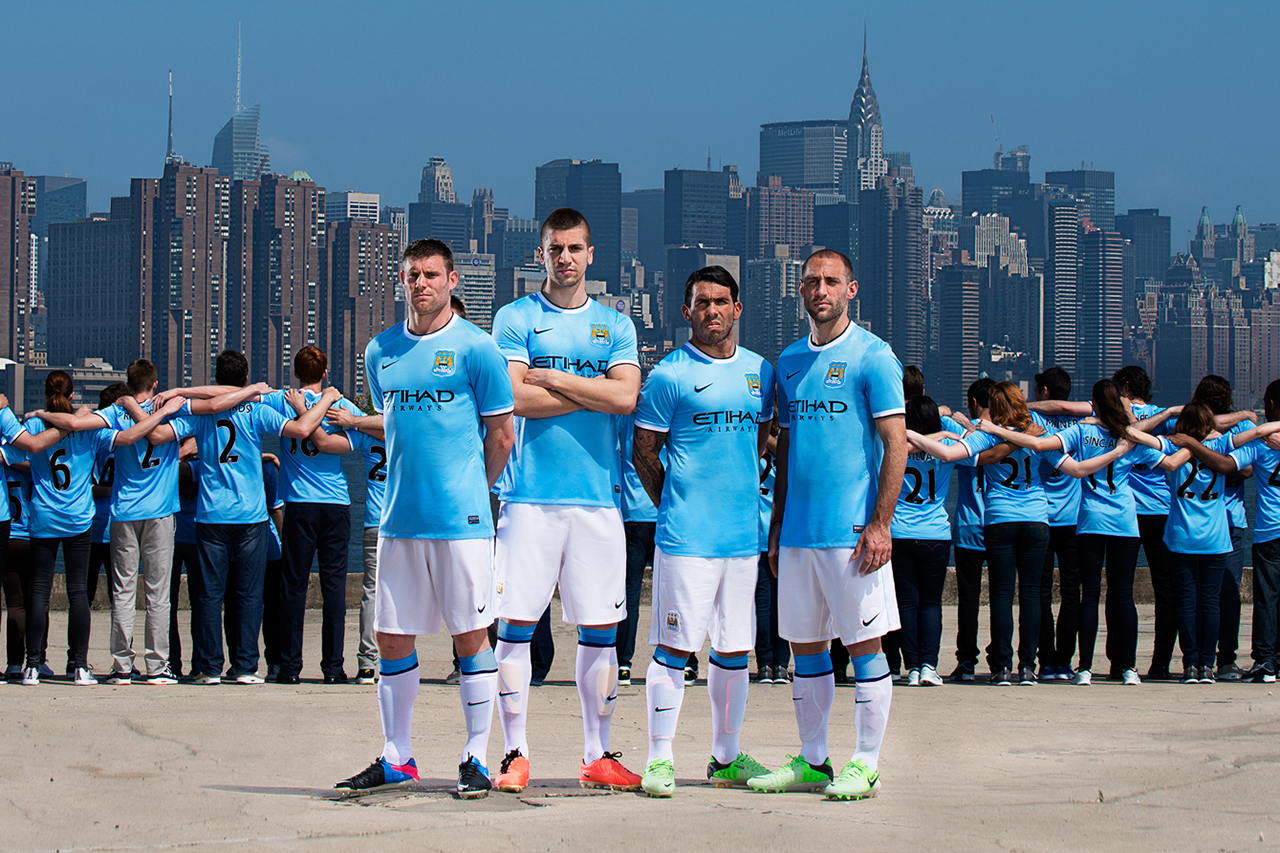 Manchester City FC Unveils First Ever Nike Kit