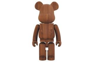 Karimoku x Medicom Toy Walnut 1000% Bearbrick