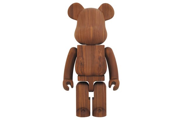 karimoku x medicom toy walnut 1000 bearbrick