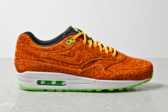 nike sportswear air max 1 fb orange leopard