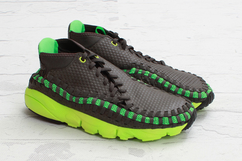 nike air footscape woven chukka midnight fog poison green