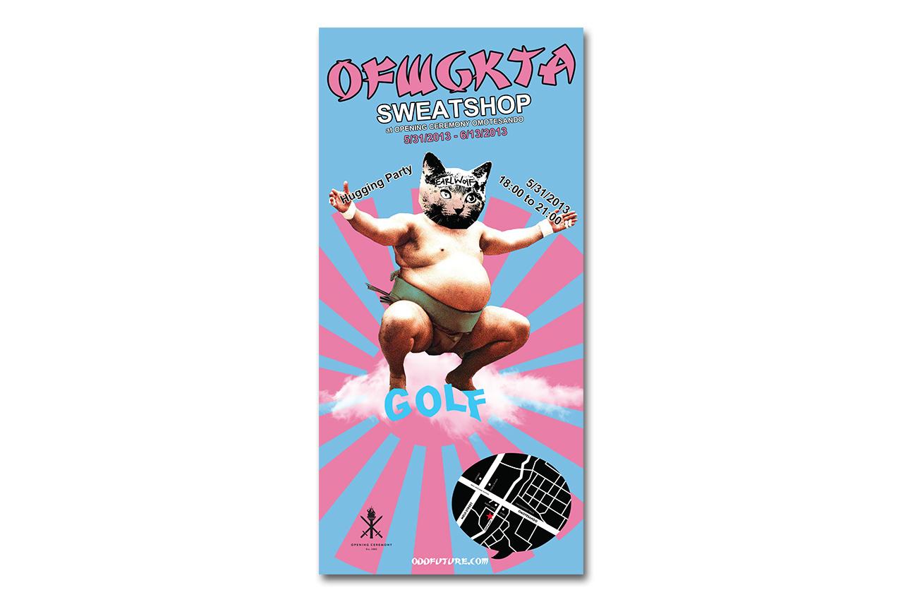 "OFWGKTA ""SWEATSHOP"" at Opening Ceremony Omotesando"