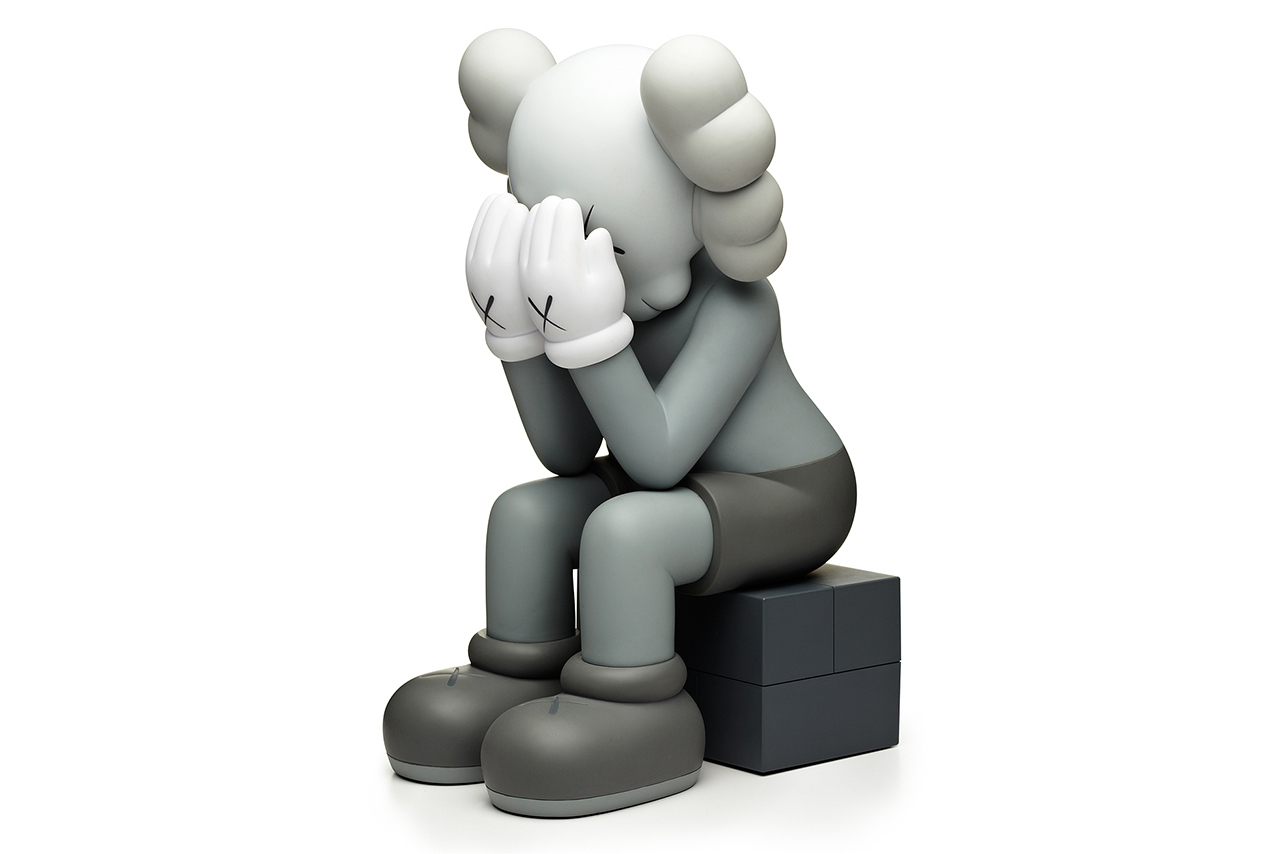 originalfake kaws companion passing through black grey