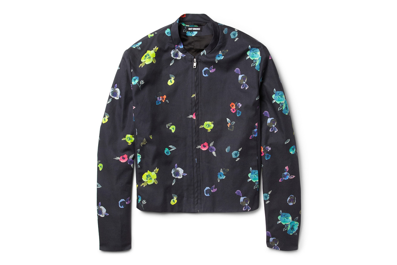 raf simons for mr porter 2013 flower print collection