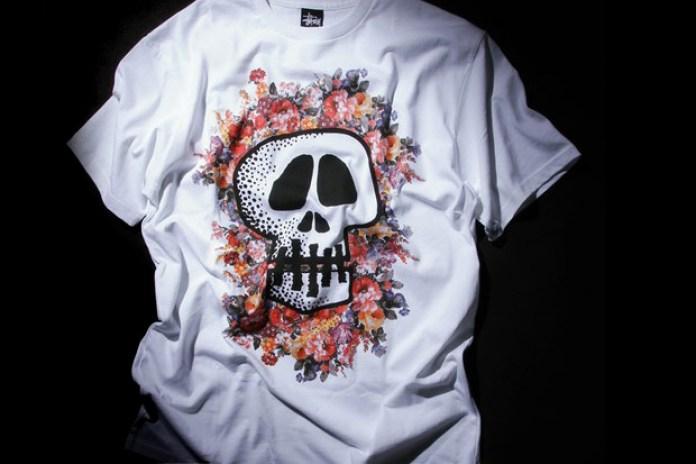 Stussy Floral Skull T-Shirt