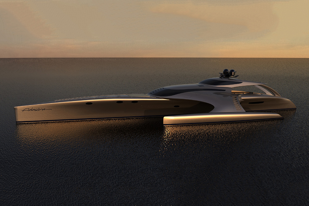 The Adastra Superyacht by John Shuttleworth