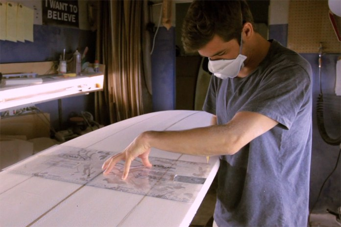 The Making of an Almond Surfboard