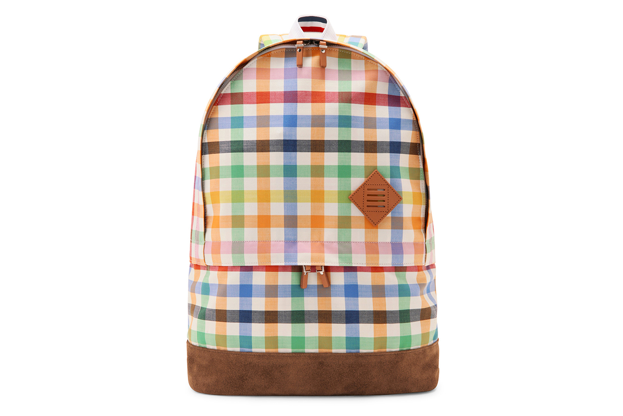 thom browne checkered backpack