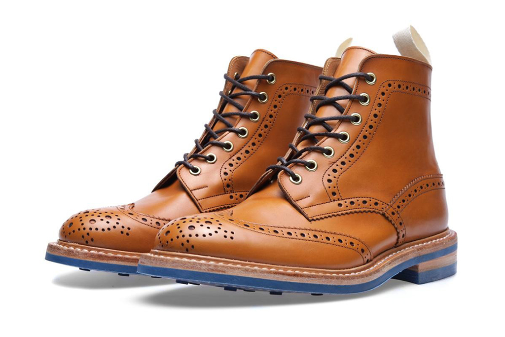 trickers x end hunting co stow brogue boot