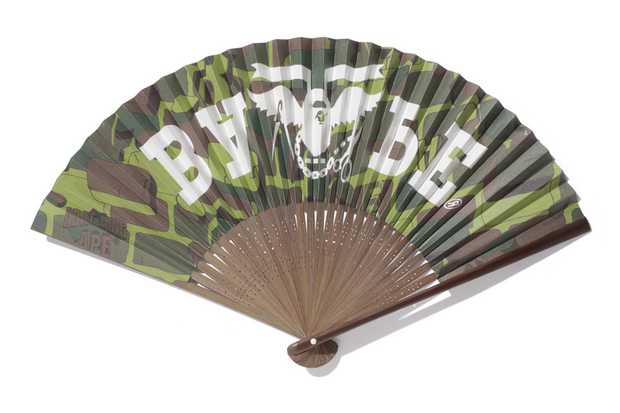 A Bathing Ape EXPLOSIVE CAMO FOLDING FAN