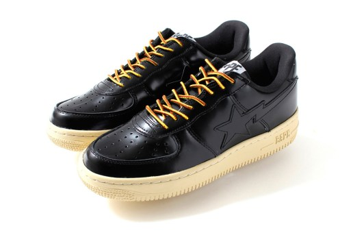 A Bathing Ape GLASS LEATHER BAPESTA