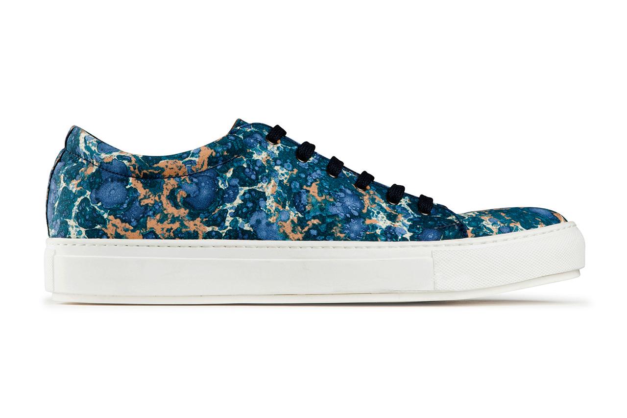 acne studios blue marble adrian sneakers