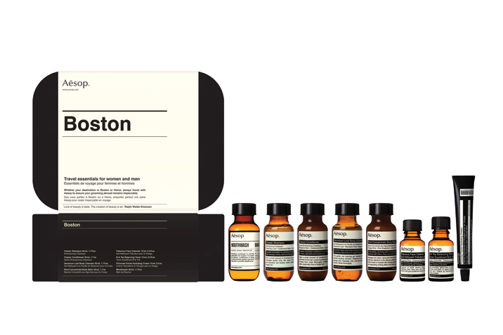 aesop boston and london travel kits