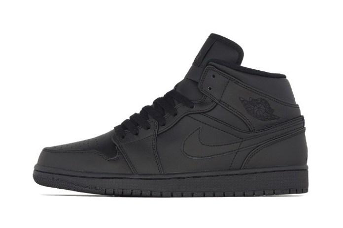 Air Jordan 1 Mid Black/Black