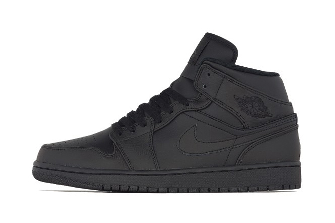 air jordan 1 mid black black