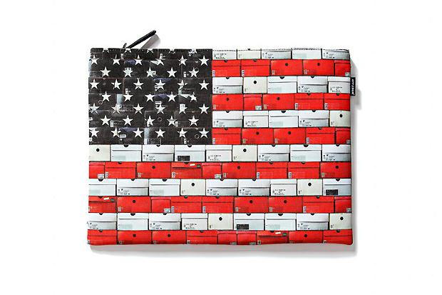 applebum stars stripes clutch bag