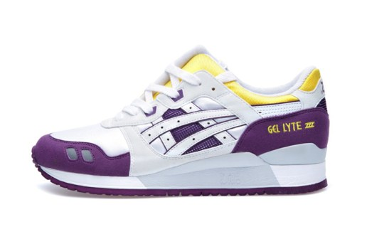 ASICS Gel Lyte III White/Yellow/Purple