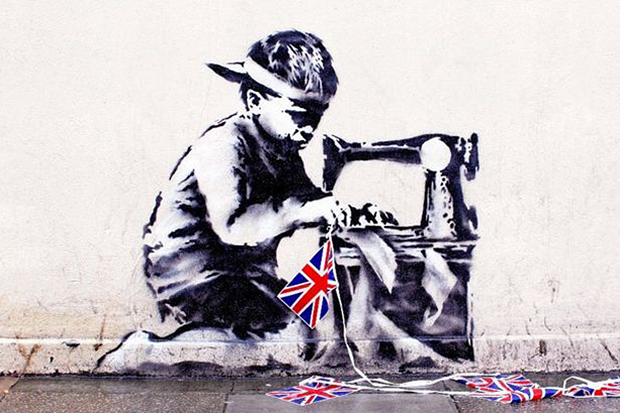 Banksy's Union Jack 'Slave Labour' Mural Sells for $1.1 Million USD at Private Auction