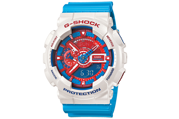 casio g shock 2013 summer red white and blue collection