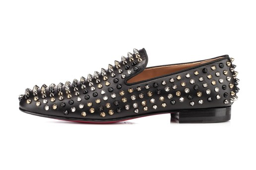 Christian Louboutin Rollerboy Spiked Leather Loafers