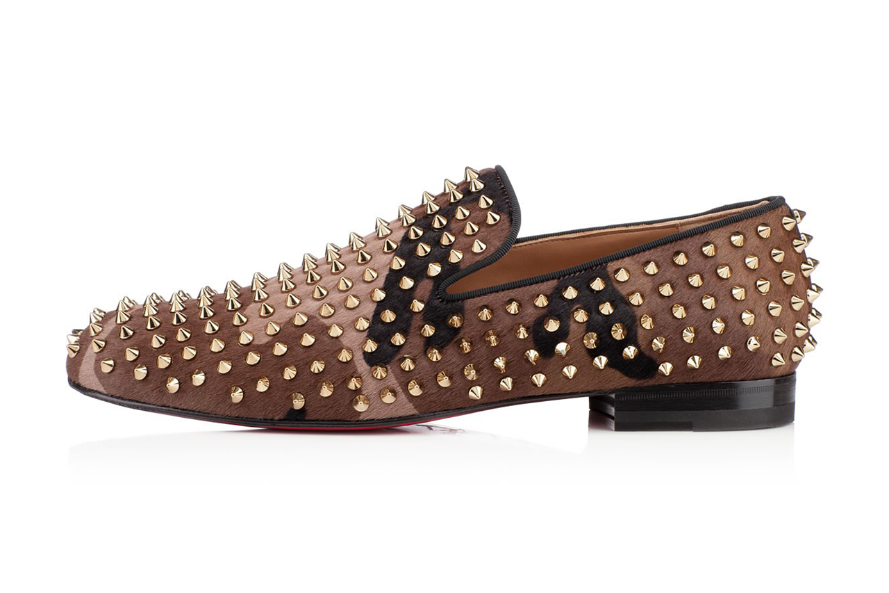 christian louboutin rollerboy spikes printed pony hair camo