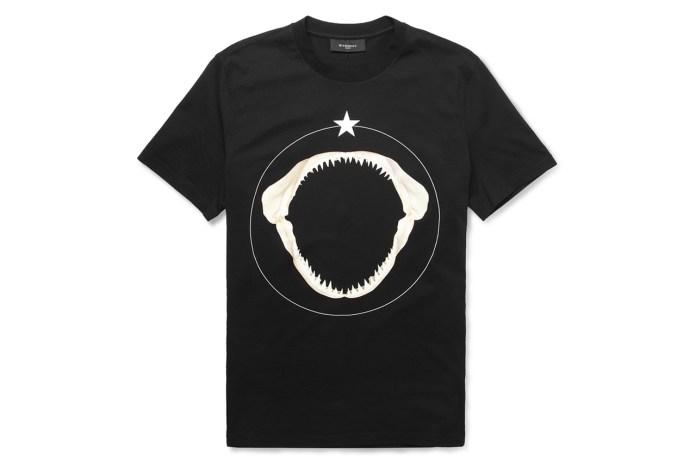 Givenchy 2013 Shark Teeth-Print Cotton T-Shirt