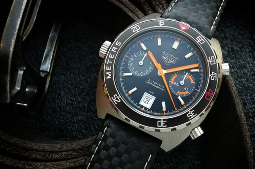 Heuer Autavia 11063 'Alpha Orange Skunkworks' Custom