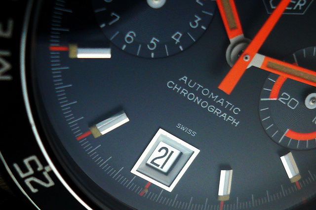 heuer autavia 11063 alpha orange skunkworks custom