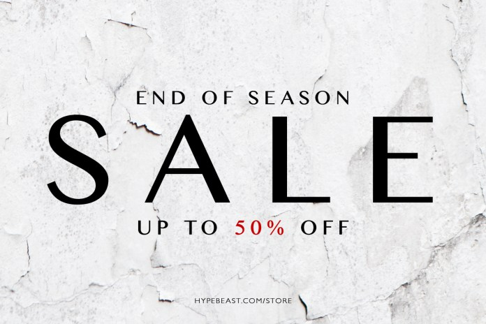 HYPEBEAST Store 2013 Spring/Summer Sale